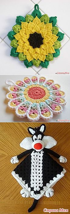 Tacks and other knitted beauty for kitchen. - Club of needlework - the Country of Mothers