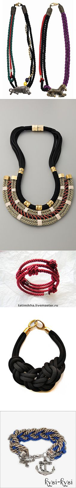 Jewelry from cords - ideas and excellent master classes.