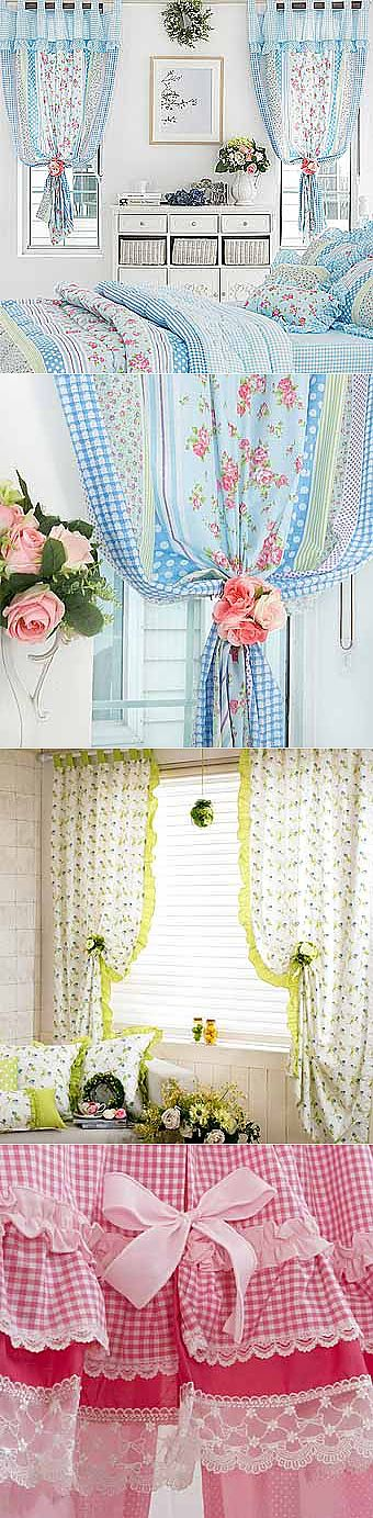 Summer curtains in style Provence - we Learn to Do All to Sami