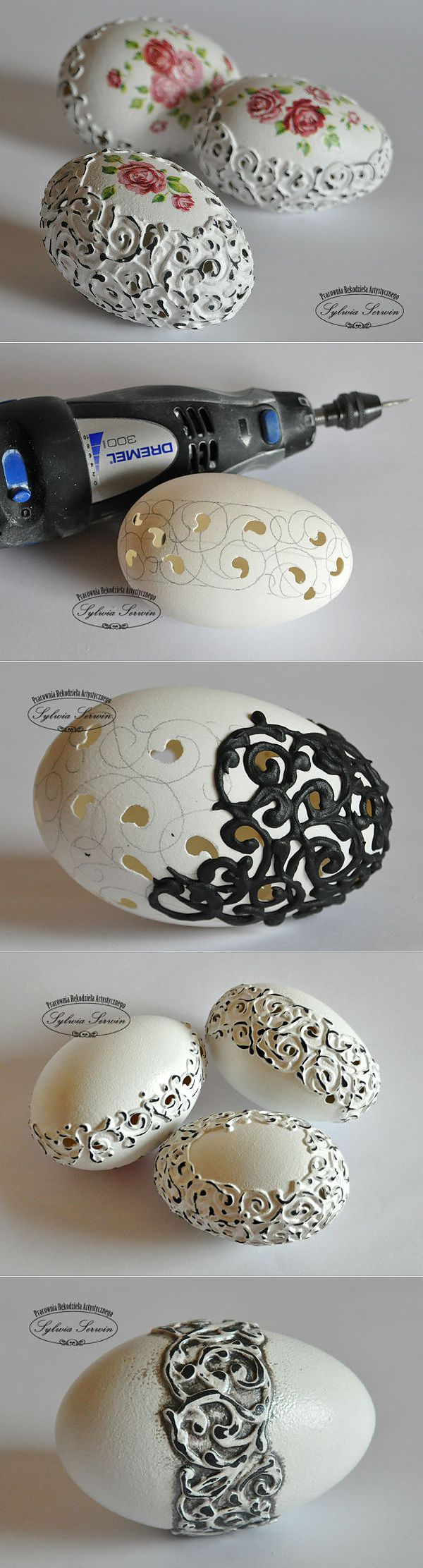 Decor of an Easter egg in shabby-chic style. MK with a photo.