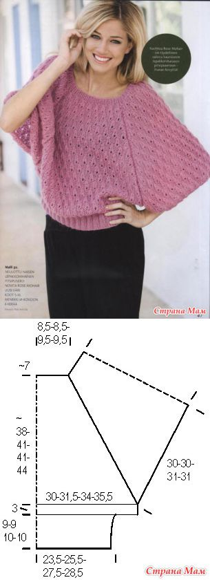 All ingenious is simple: a charming dzhemperok - KNITTED MODA+ FOR NOT MODEL LADIES - the Country of Mothers