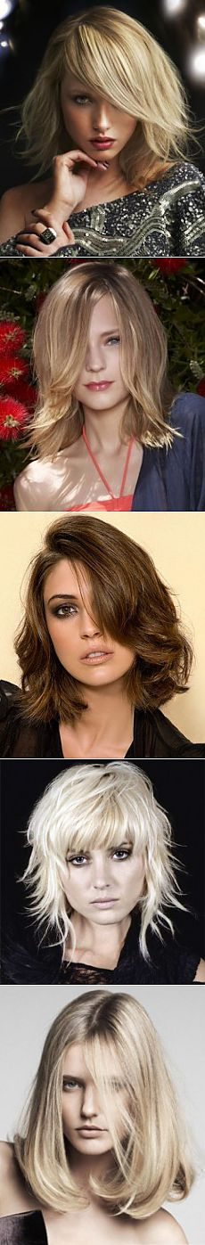 Hair dressing. Fashionable hairstyles of 2014 at AVERAGE LENGTH. Hairdresses, laying average hair | Beauty shop in Ufa