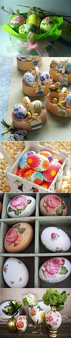 Decoupage of Easter eggs. Master class | Housewife
